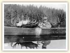 Tourist, moose hunting