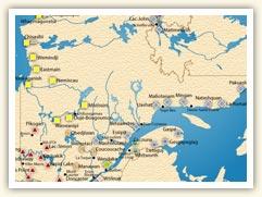 Carte des premières nations